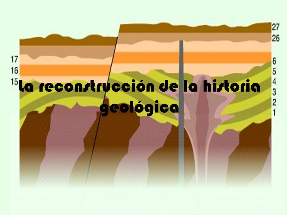 La reconstrucción de la historia geológica