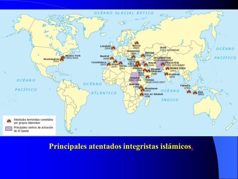 Principales atentados integristas islámicos..