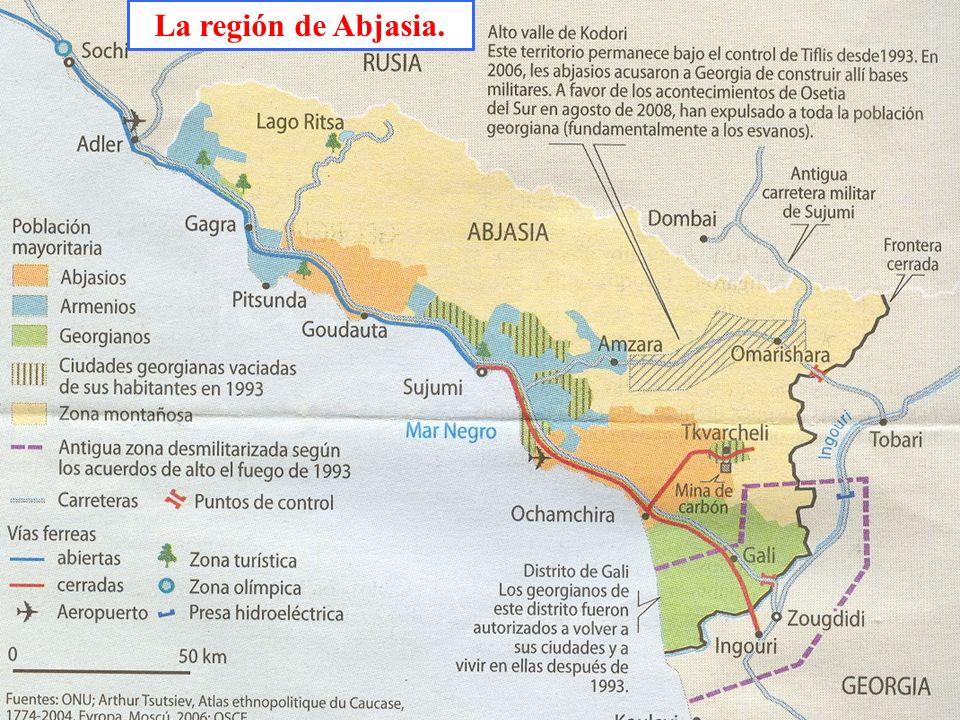 La región de Abjasia.