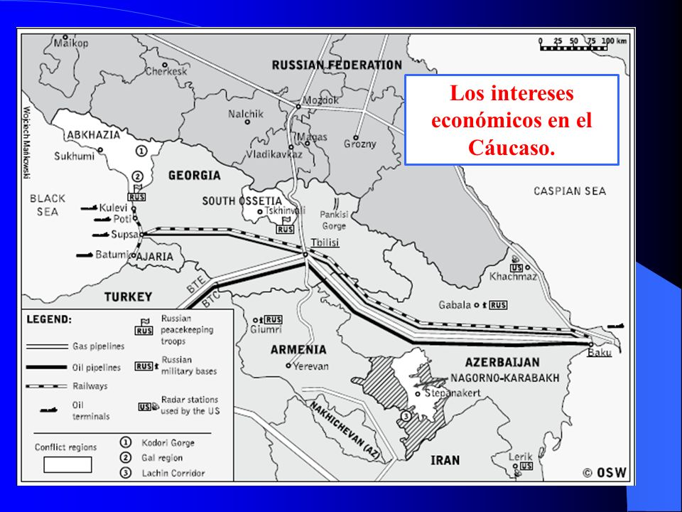 Los intereses económicos en el Cáucaso.