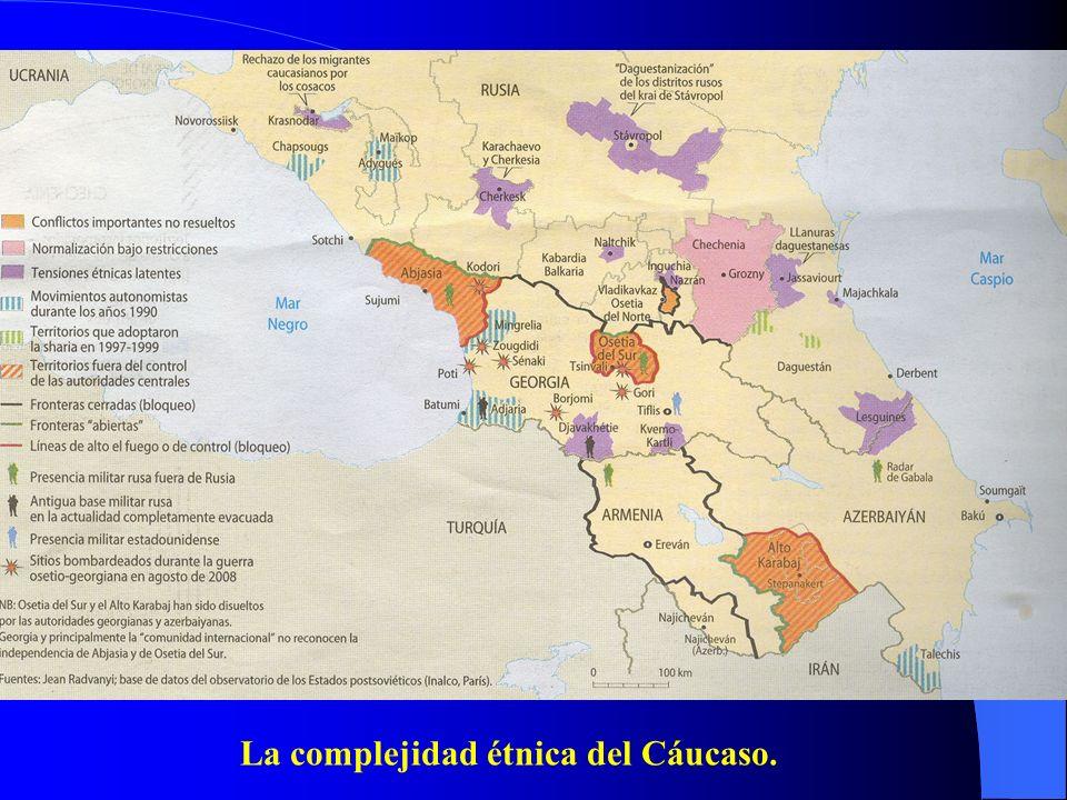 La complejidad étnica del Cáucaso.