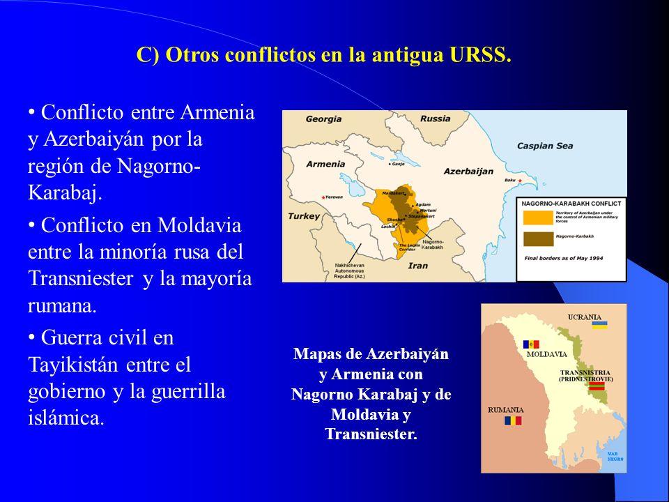C) Otros conflictos en la antigua URSS.