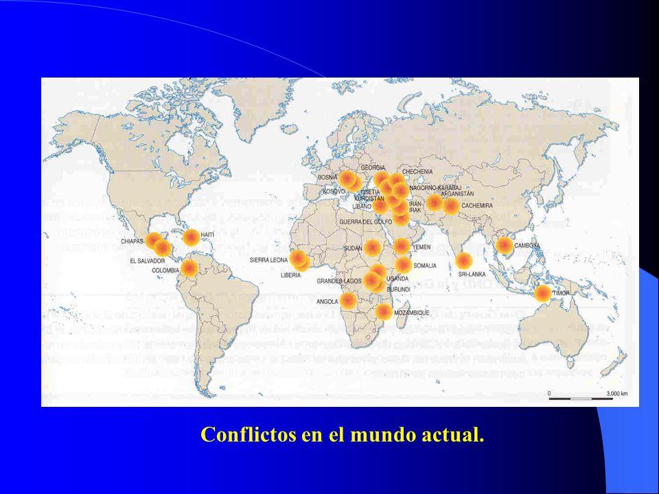 Conflictos en el mundo actual.