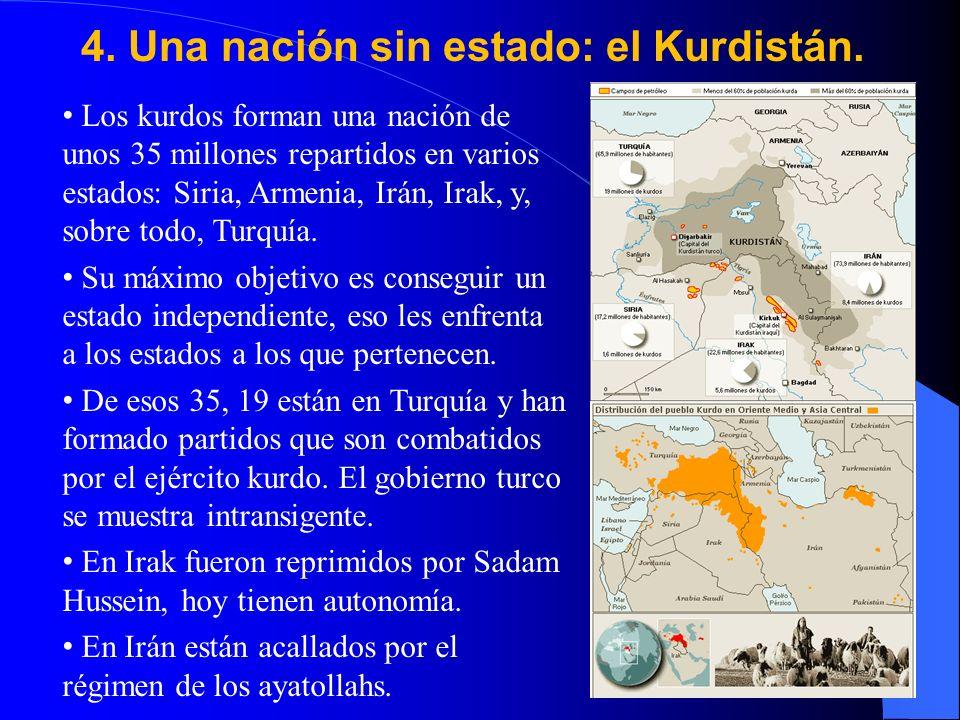 4.Una nación sin estado: el Kurdistán.