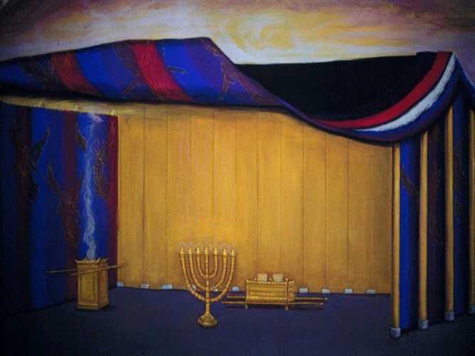 La cortina de separación: No llegaba al techo: El incienso alcanzaba el Santísimo.