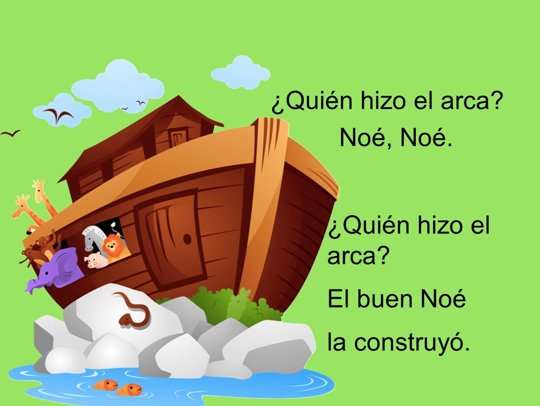 y de fina madera el arca quedó.