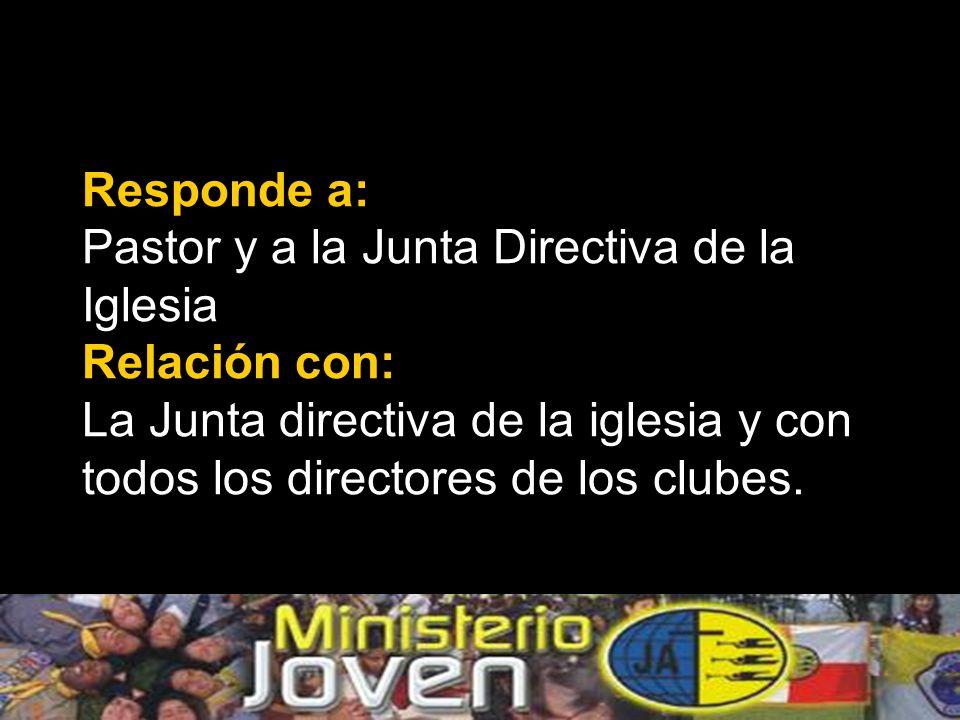 Dirige a: La Junta Directiva de Jóvenes Miembro de: La Junta Directiva de la Iglesia.