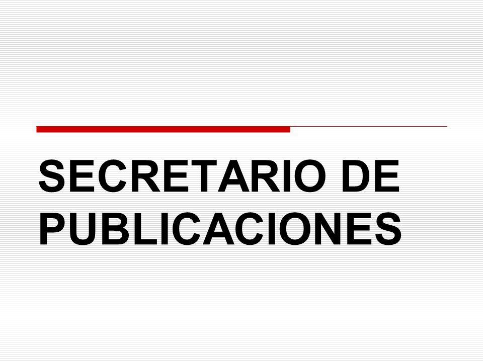 SECRETARIO DE PUBLICACIONES