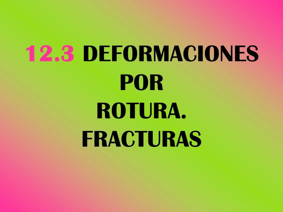 12.3 DEFORMACIONES POR ROTURA. FRACTURAS