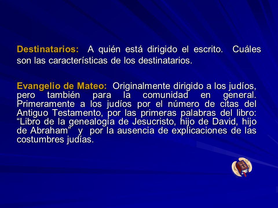 Bibliografía Enlace electrónico: http://www.predicar.org/mateo.html ttp://www.predicar.org/mateo.html (Documento: El Evangelio según San Mateo Rvdo.