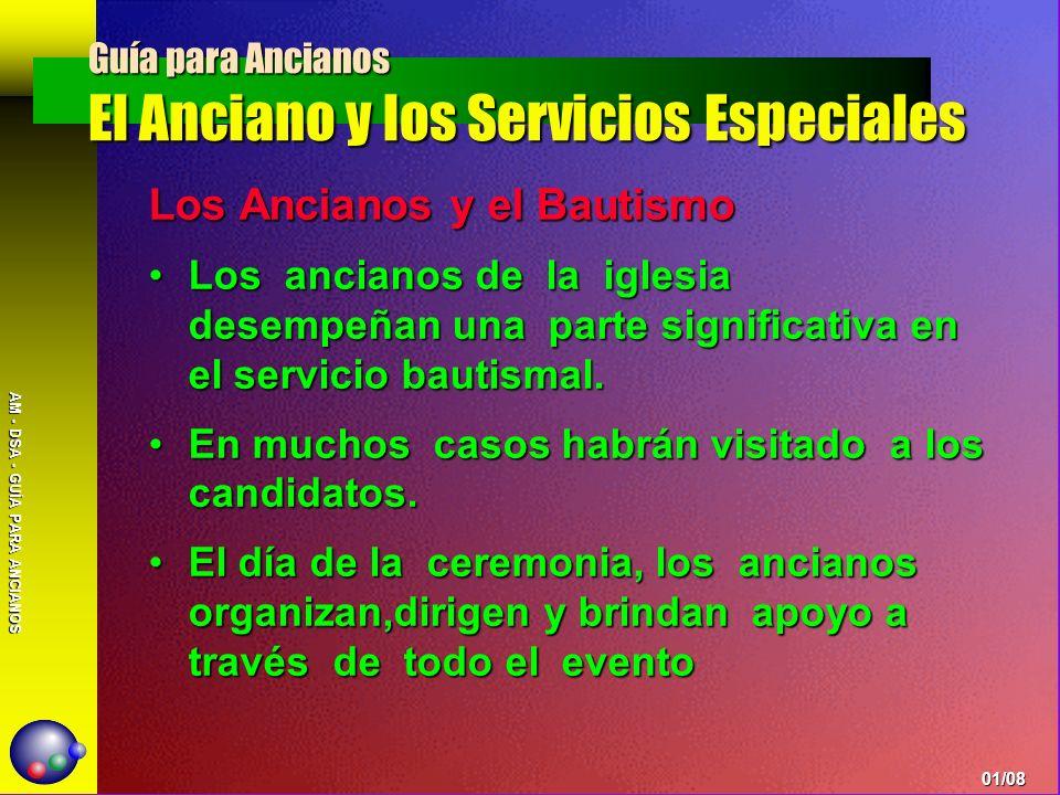 AM - DSA - GUÍA PARA ANCIANOS Los Ancianos y El Servicio de Comunión 1.Cuándo celebrarlo.- a.El manual de iglesia sugiere una vez por trimestre.