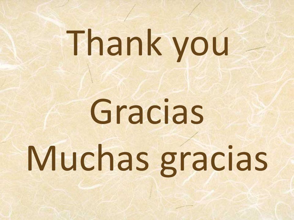 Gracias Muchas gracias Thank you