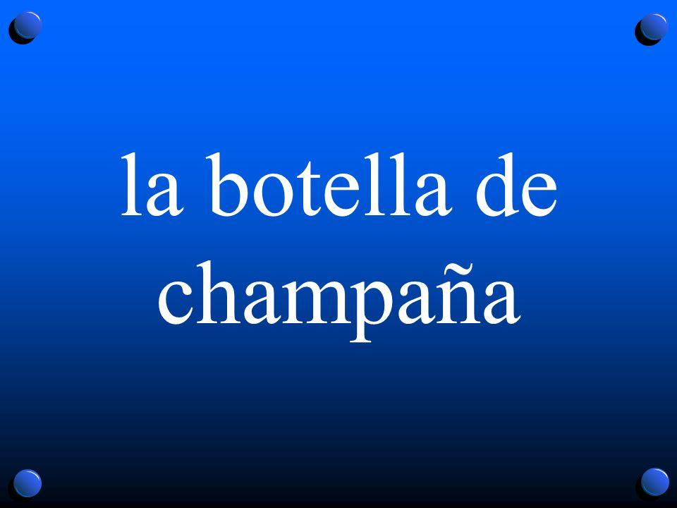 la botella de champaña