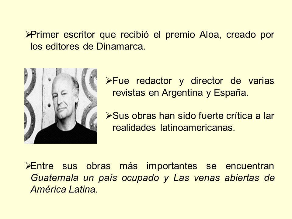 Primer escritor que recibió el premio Aloa, creado por los editores de Dinamarca. Fue redactor y director de varias revistas en Argentina y España. Su
