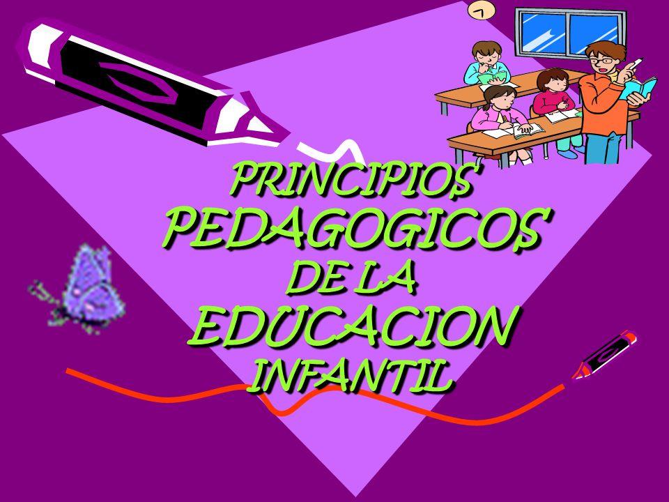 PRINCIPIOS PEDAGOGICOS DE LA EDUCACION INFANTIL