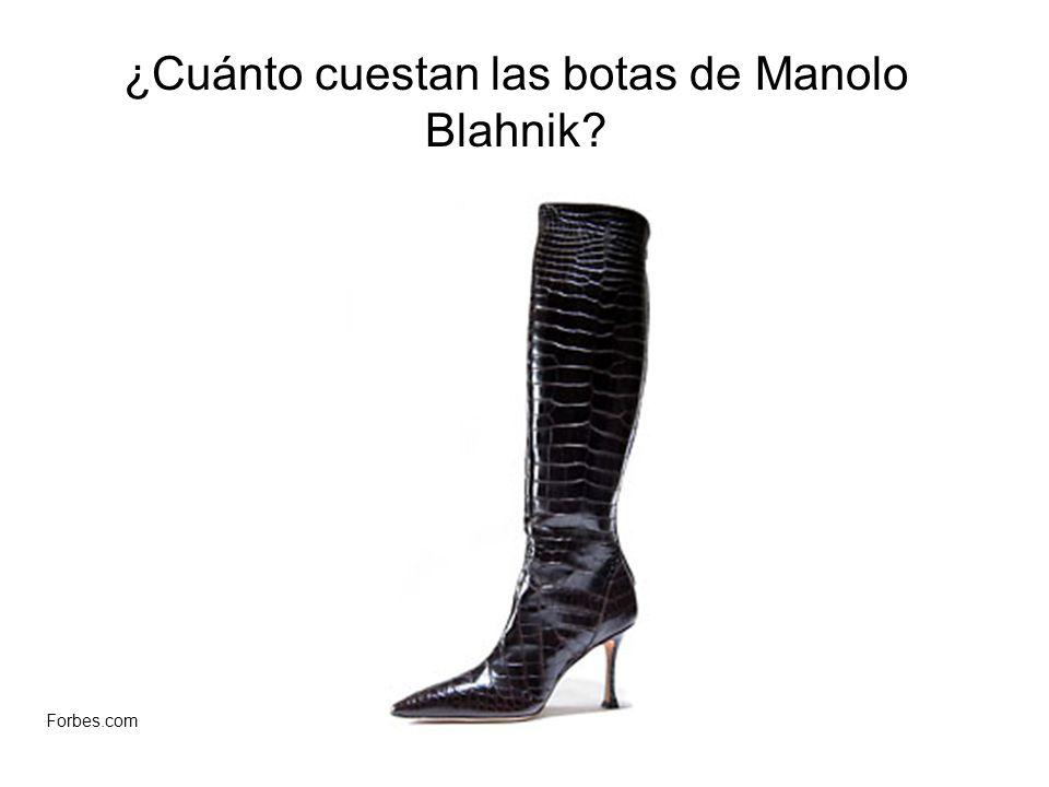 ¿Cuánto cuestan las botas de Manolo Blahnik? Forbes.com