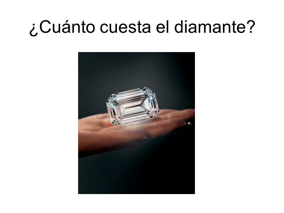 ¿Cuánto cuesta el diamante?