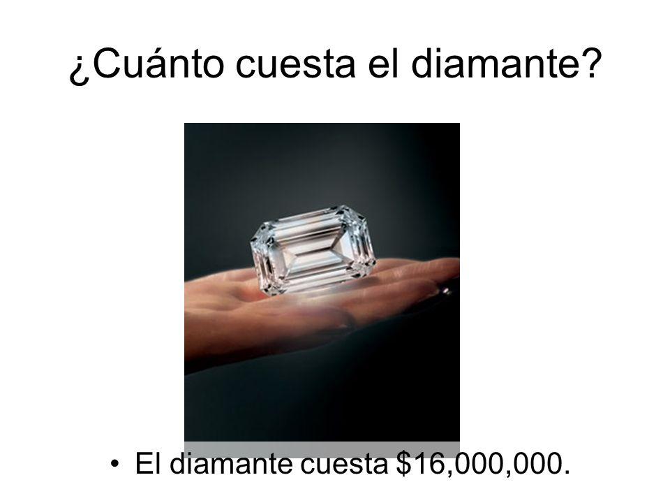 El diamante cuesta $16,000,000.