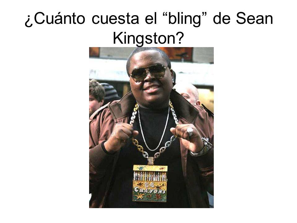 ¿Cuánto cuesta el bling de Sean Kingston?