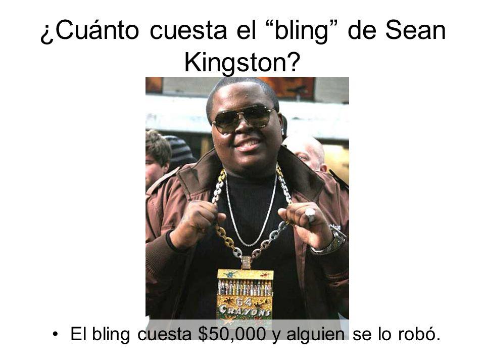 El bling cuesta $50,000 y alguien se lo robó.