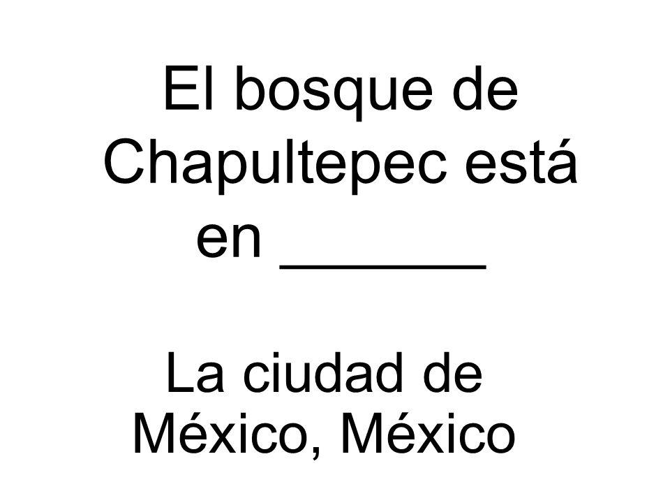 El bosque de Chapultepec está en ______ La ciudad de México, México
