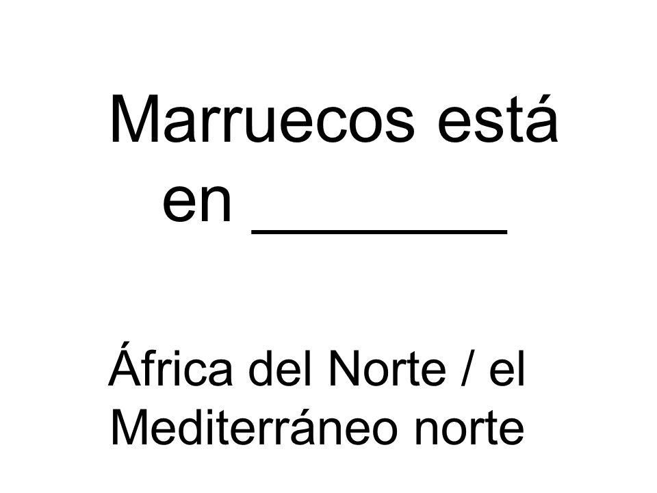 Marruecos está en _______ África del Norte / el Mediterráneo norte