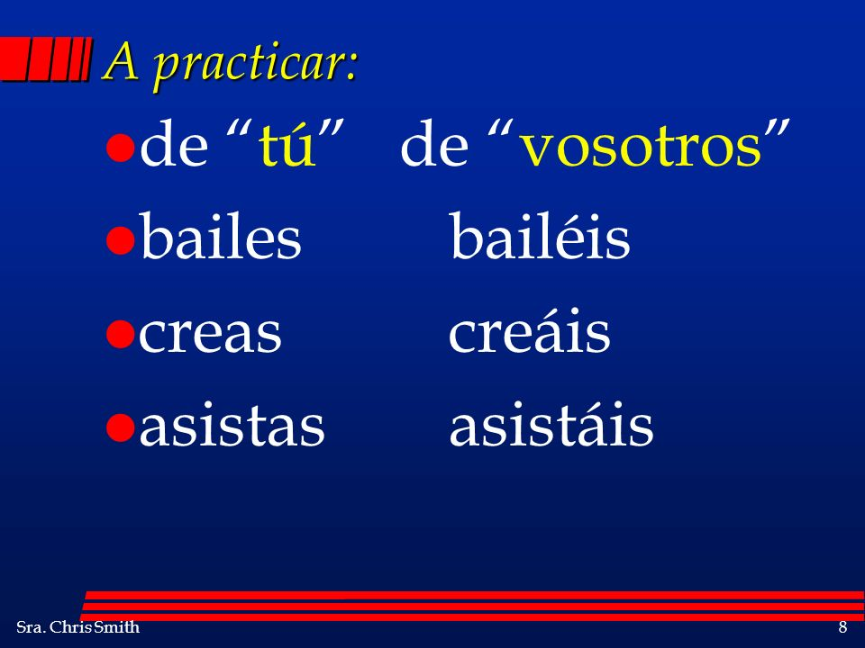Sra.Chris Smith39 A practicar: l It is true that our teacher gives a lot of homework.
