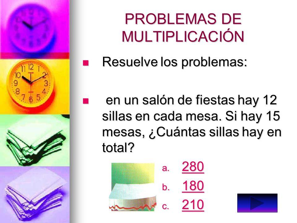 MULTIPLICACION Para multiplicar un numero de dos cifras o mas por un numero de una cifra, se hallan los siguientes productos: Para multiplicar un nume