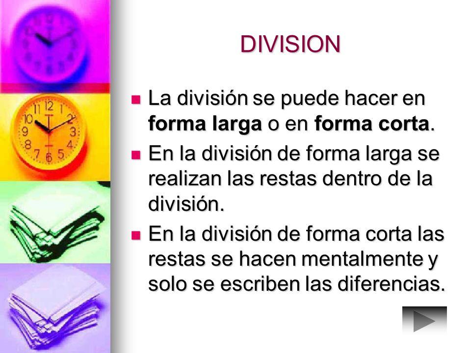 DIVISION Los términos de la división son dividendo, divisor, cociente y residuo. Los términos de la división son dividendo, divisor, cociente y residu