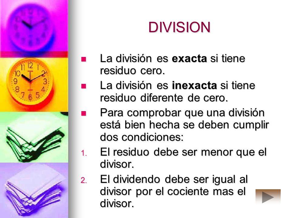 DIVISION La división se puede hacer en forma larga o en forma corta. La división se puede hacer en forma larga o en forma corta. En la división de for