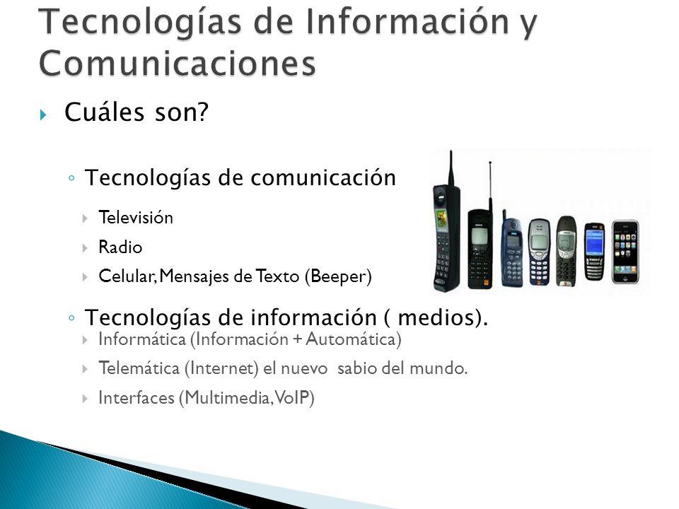 Televisión Radio Celular, Mensajes de Texto (Beeper).