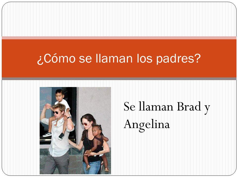 ¿Cómo se llaman los padres? Se llaman Brad y Angelina