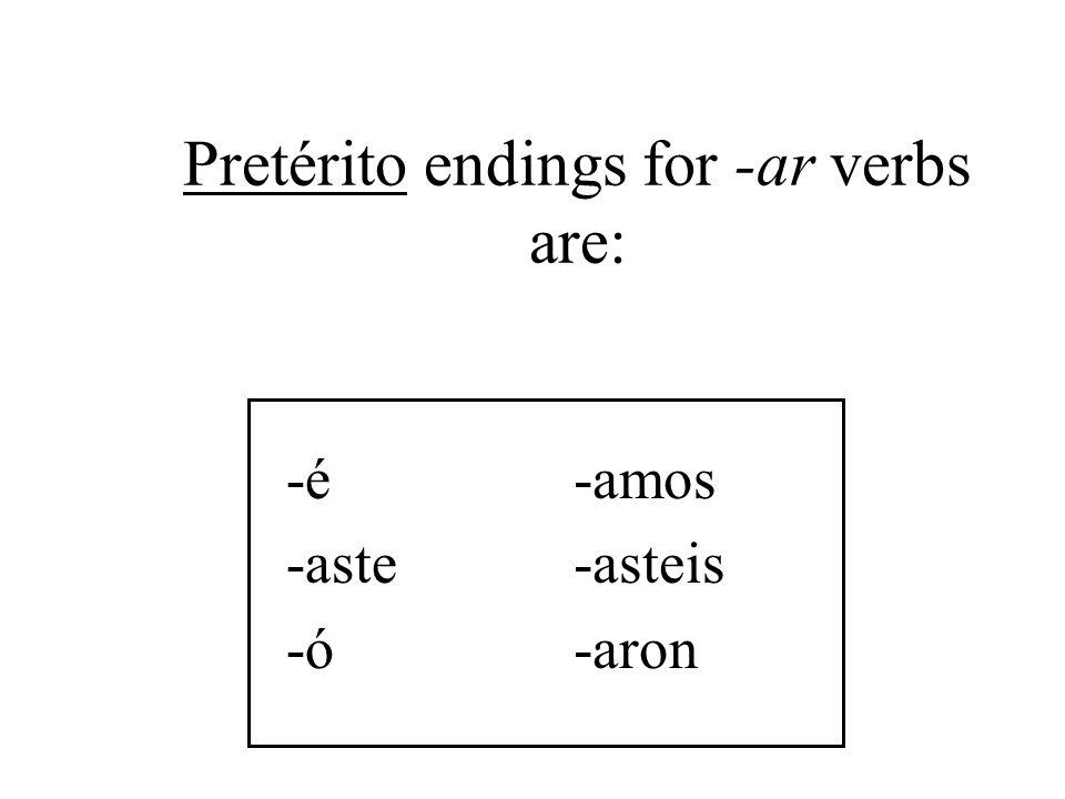 The stem for regular verbs in the pretérito is the infinitive stem.