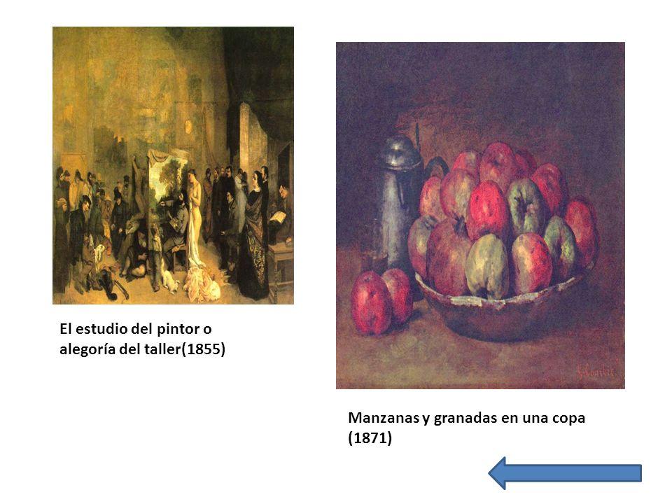 El estudio del pintor o alegoría del taller(1855) Manzanas y granadas en una copa (1871)