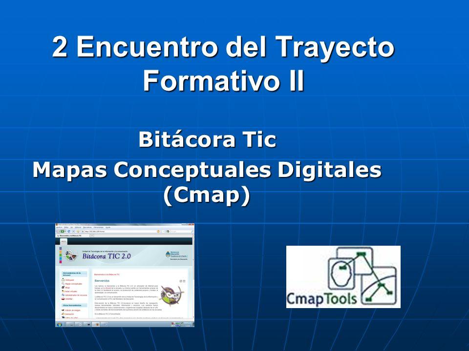 2 Encuentro del Trayecto Formativo II Bitácora Tic Mapas Conceptuales Digitales (Cmap)