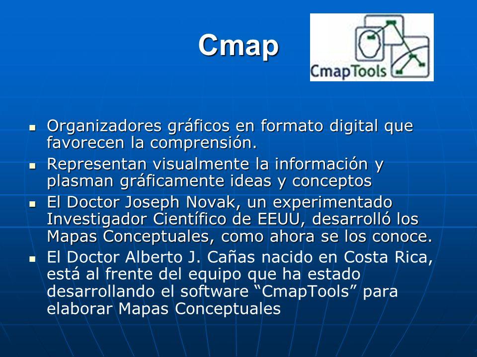 Cmap Organizadores gráficos en formato digital que favorecen la comprensión. Organizadores gráficos en formato digital que favorecen la comprensión. R