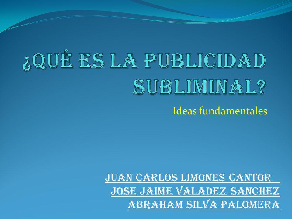 Ideas fundamentales JUAN CARLOS LIMONES CANTOR JOSE JAIME VALADEZ SANCHEZ ABRAHAM SILVA PALOMERA