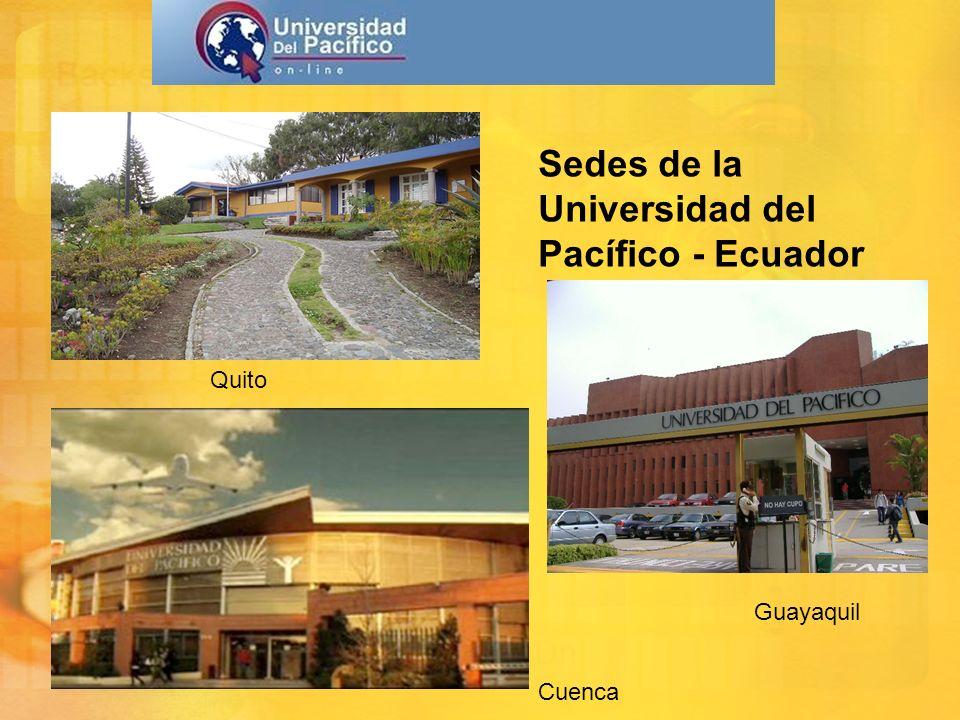 Sedes de la Universidad del Pacífico - Ecuador Quito Guayaquil Cuenca