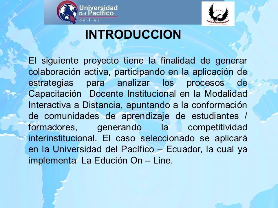INTRODUCCION El siguiente proyecto tiene la finalidad de generar colaboración activa, participando en la aplicación de estrategias para analizar los p