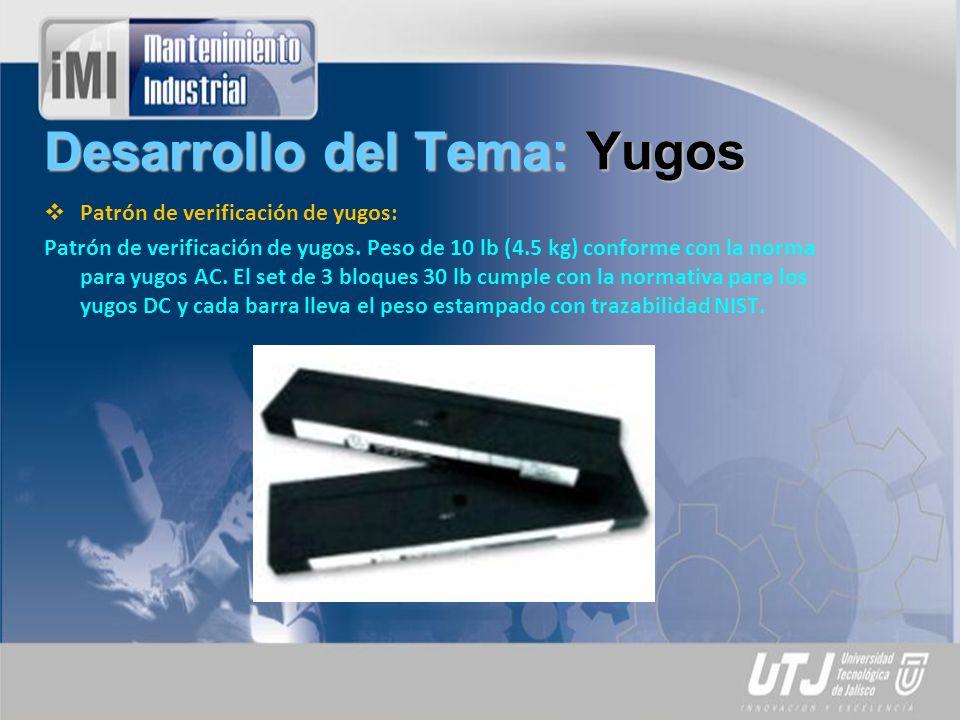 Desarrollo del Tema: Yugos Patrón de verificación de yugos: Patrón de verificación de yugos.
