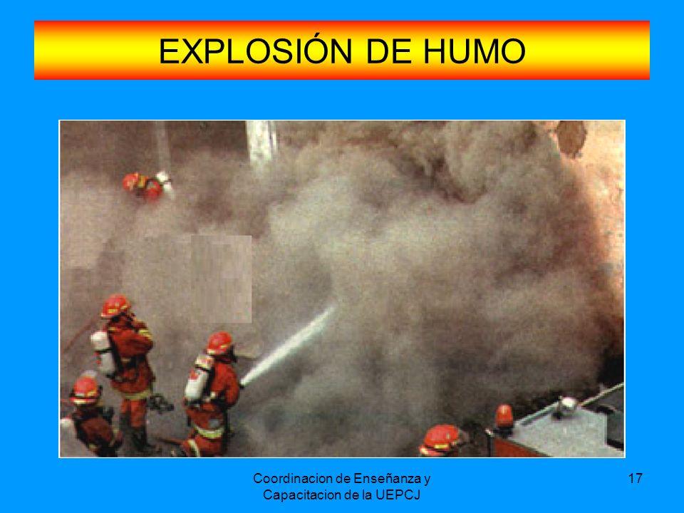 Coordinacion de Enseñanza y Capacitacion de la UEPCJ 17 EXPLOSIÓN DE HUMO