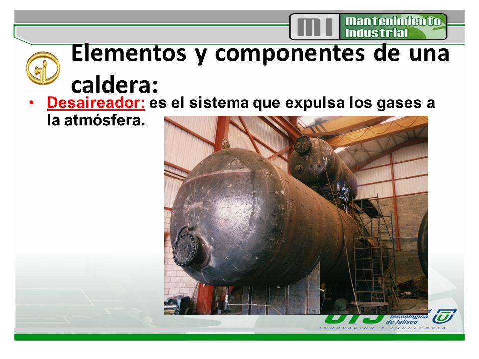 Elementos y componentes de una caldera: Purga de fondo: Evacuación de lodos y concentrado del fondo de la caldera.