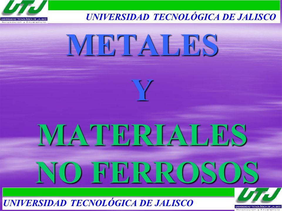 METALESY MATERIALES NO FERROSOS UNIVERSIDAD TECNOLÓGICA DE JALISCO