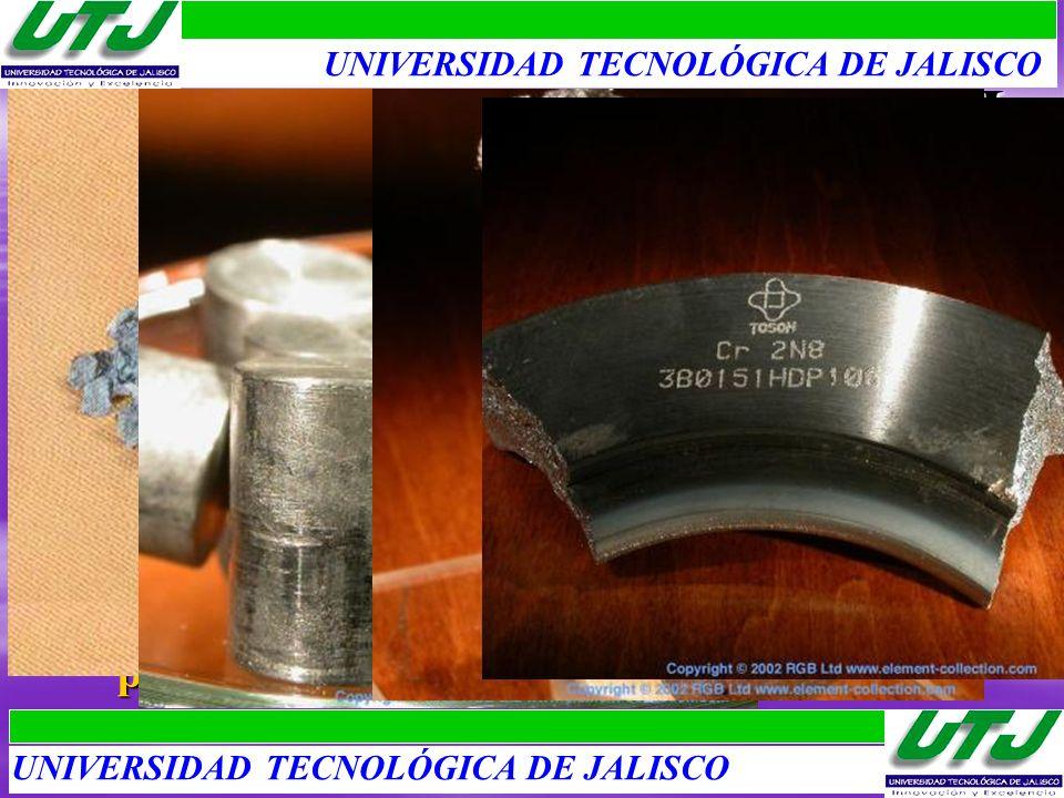 Primeros Metales de Transición II 1.Vanadio: Vanadis, con acero da aleaciones tenases (choque y vibración), y blindaje. 2.Niobio: Niobe, con acero, re