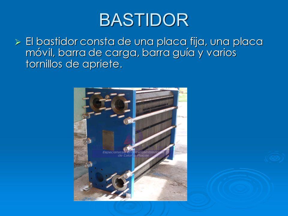 BASTIDOR El bastidor consta de una placa fija, una placa móvil, barra de carga, barra guía y varios tornillos de apriete. El bastidor consta de una pl