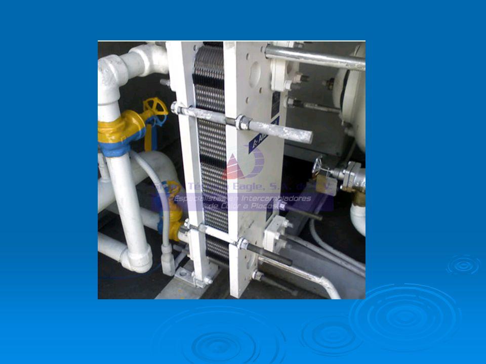 CONEXIONES Normalmente, las conexiones de entrada y salida de los fluidos están situadas en la placa fija del bastidor, de esta forma no se requiere desconectar tuberías para darle mantenimiento al equipo.