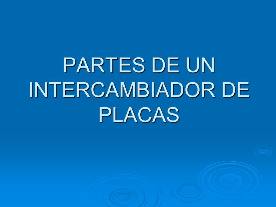 PARTES DE UN INTERCAMBIADOR DE PLACAS