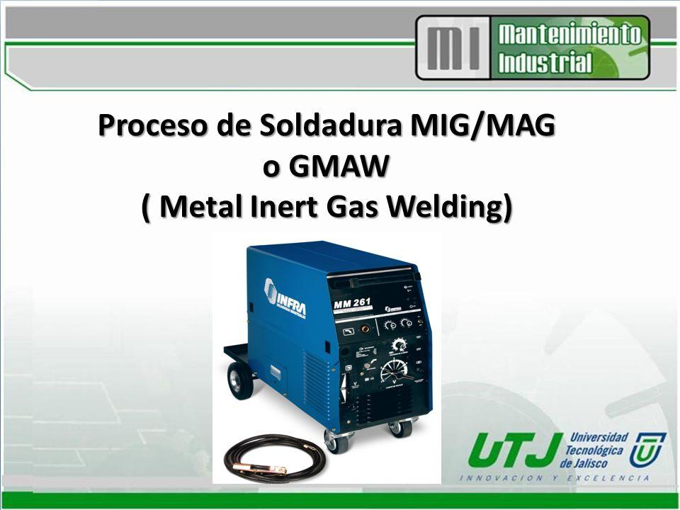 Definición: Definido por la AWS como un proceso de soldadura al arco, donde la fusión se produce por calentamiento con un arco entre un electrodo de metal de aporte continuo y la pieza, donde la protección del arco se obtiene de un gas suministrado en forma externa.