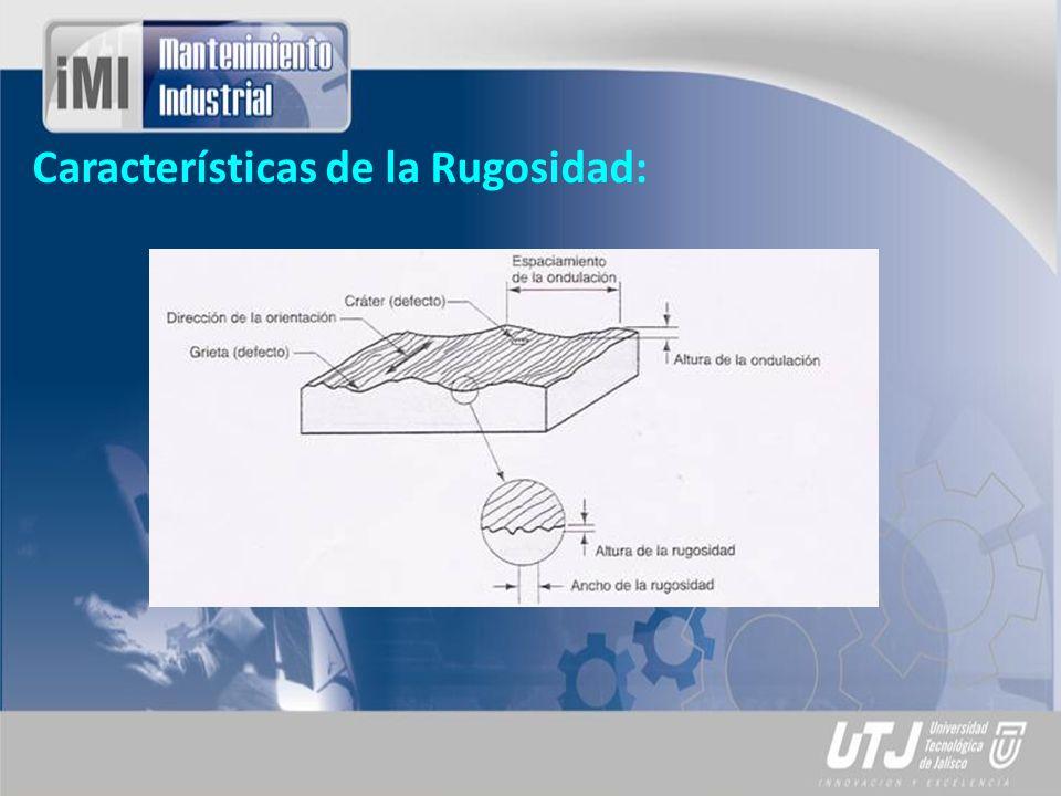 Rugosidad Superficial: Es el conjunto de irregularidades de la superficie real definidas en una sección donde los errores de forma y las ondulaciones han sido eliminadas.