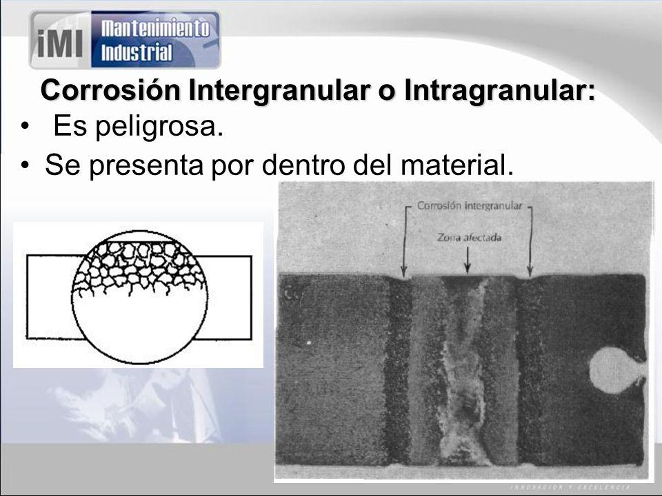 Corrosión Intergranular o Intragranular: